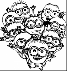 Good Minion Coloring Pages With Free And Christmas
