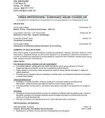 Sample Resume Objectives For Psychology Graduate Counselor Samples Residential Cover Letter