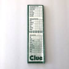 Clue 34 SCORE SHEETS 1997 Replacement Board Game Parts Pieces Paper Pad Hasbro