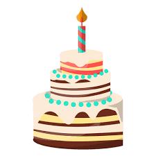 Three floors birthday cake illustration Transparent PNG