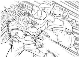 Free Coloring Pages Of Kid Goku Super Saiyan