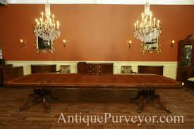 100 Large Dining Table With Chairs 13 Foot Mahogany Antique Style Reproduction