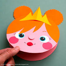 Crafts Project Ideas Construction Paper Mmmcrafts Make A Quick Princess Card Gift Tag Or Bear Easy