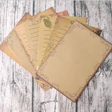 Mengger Papel De Escribir Papelería Vintage Escritura Cartas