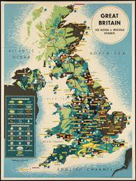 Great Britain Her Natural Industrial Resources A Beautiful Vintage Map