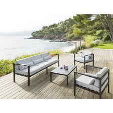 Awesome Salon De Jardin Hesperide Azua Noir Contemporary Beautiful Salon De Jardin Metal Noir Ideas Amazing House Design