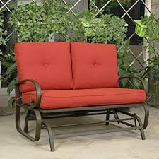 Patio Furniture Loveseat Glider by Amazon Com Cloud Mountain Patio Glider Bench Outdoor Cushioed 2