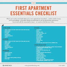Beautiful First Apartment Checklist Gallery