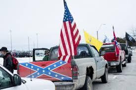 100 Michigan Truck Confederate Flagbearing Trucks Park Outside School News