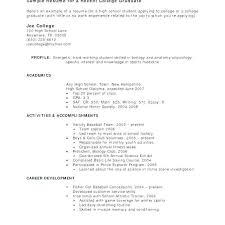 Resume For Seniors College Examples High School Beautiful Sample Students With No Work Experience Template