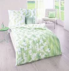 kaeppel edel seersucker bettwäsche 135x200cm 2 tlg toya limone grün weiß