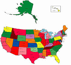 Us State Map With Capitols Usa States And Capitals New