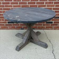 Round Fancy X Dining Table Farmhouse Rustic Reclaimed Wood