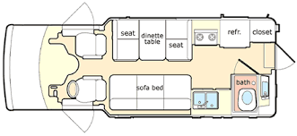 Chinook Concourse Rv Floor Plans by Premier Dinette2 Gif