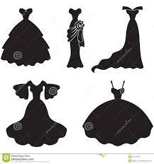 Blank Wedding Dress Clipart