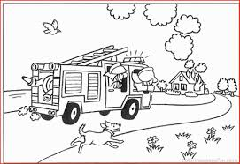 100 Truck Pages Dump Coloring Awesome Fire Coloring 131