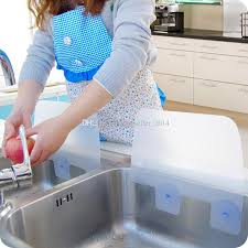 2 creative home dry kitchen wash basin sucker vacuum cup sink