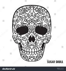 Easy Sugar Skull Day Of by Day Dead Sugar Skull Vector Mexican Stock Vector 479656783
