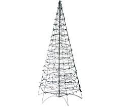 Martha Stewart Pre Lit Christmas Tree Troubleshooting by Pre Lit Led 6 U0027 Fold Flat Outdoor Christmas Tree By Lori Greiner