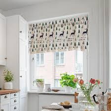 landhaus stil bistrogardine kurzgardine gardine vorhang für küchen balkon wie beschrieben elch 130 x 41 cm