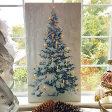 Multicolor Lighted Spiral Christmas Tree by Snowy Christmas Tree Lighted Canvas U2013 Lisa Robertson
