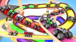 100 Youtube Trucks For Kids Learning Colors For Children With Monster Street Vehicles