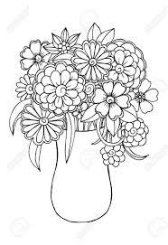 Coloriage De Vase Avec Des Fleurs Fleur Facile A Dessiner Fashion