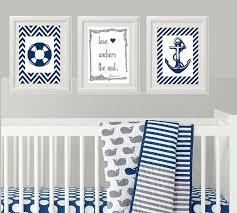 Nautical Baby Nursery Nursery Wall Art Wall Decor for Baby