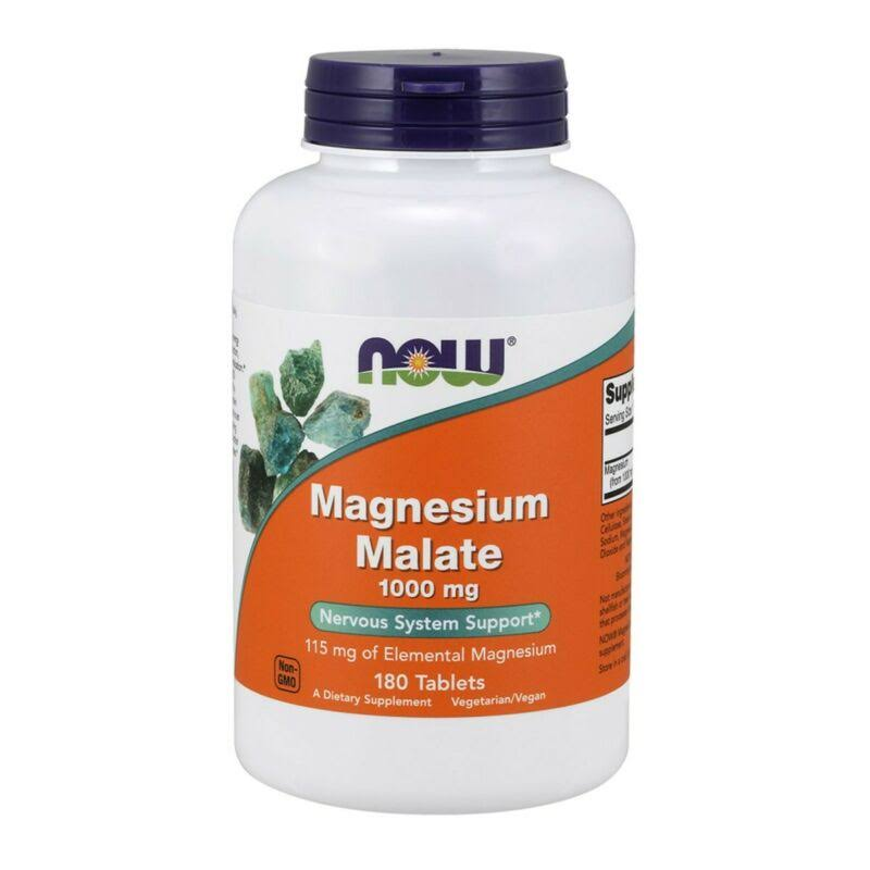 Now Foods Magnesium Malate - 1000mg, 180 Tabs
