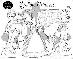Four Princess Coloring Pages To Print Dress And Paper Doll