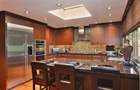 recessed lighting kitchen table with wood kitchen cabinet