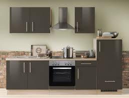 küchenzeile unico 270 cm lava hochglanz mit e geräten küchenblock