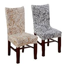 Plum Chair Covers Cheap Jacquard Stretch For Dining Room Decoration Short Half Machine Washable V55c Slipcovers Slipcover Sofa