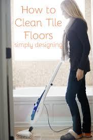 to clean tile floors