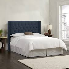 Blue Velvet King Headboard by Tufted Wingback Headboard King Size Wingback Black Faux Leather