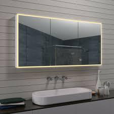 alu led beleuchtung badezimmerschrank bad spiegel schrank schminkspiegel 140 cm