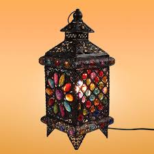 Bohemian Style Fashion Rustic Table Lamp Lantern Lamps Cafe Bar Decoration Bedroom