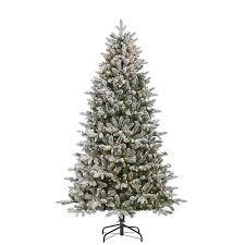 Pre Lit Flocked Swiss Fir Christmas Tree