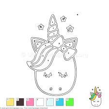 Cute Unicorn Color By Number Coloring Pages GetColoringPagesorg