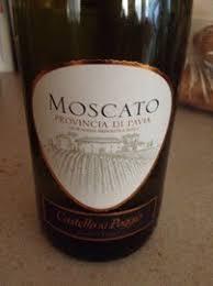 Moscato Provincia De Pavia Castillo Del Poggio Wine Bottlen Rating