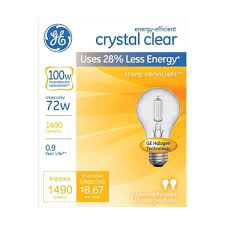 ge halogen light bulb 72 watts 1490 lumens a line a19 medium base