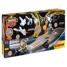 porte avion avec 6 avions invincible heroes king jouet