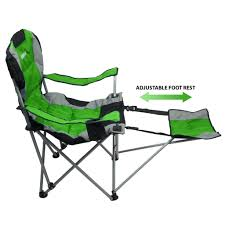 GigaTent Ergonomic Portable Footrest Camping Chair (Green ...