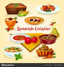 cuisine espagne icône de dessin animé plats savoureux dîner de cuisine espagnole