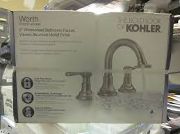 Ebay Bathroom Faucets Brushed Nickel by Kohler Worth 8 In 2 Handle Widespread Bathroom Faucet In Vibrant