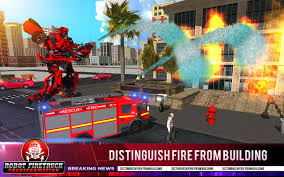 100 Fire Truck Game Fighter Real Robot Rescue Simulator Free Download
