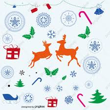 Christmas Ornaments And Reindeer Seamless Background Vector Material