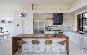 deco cuisine blanc et bois cuisine blanche plan de travail bois inspirations d co en newsindo co