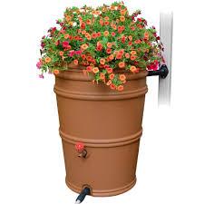 Decorative Hose Bib Handles by Algreen Castilla 50 Gal Brownstone Decorative Rain Barrel With