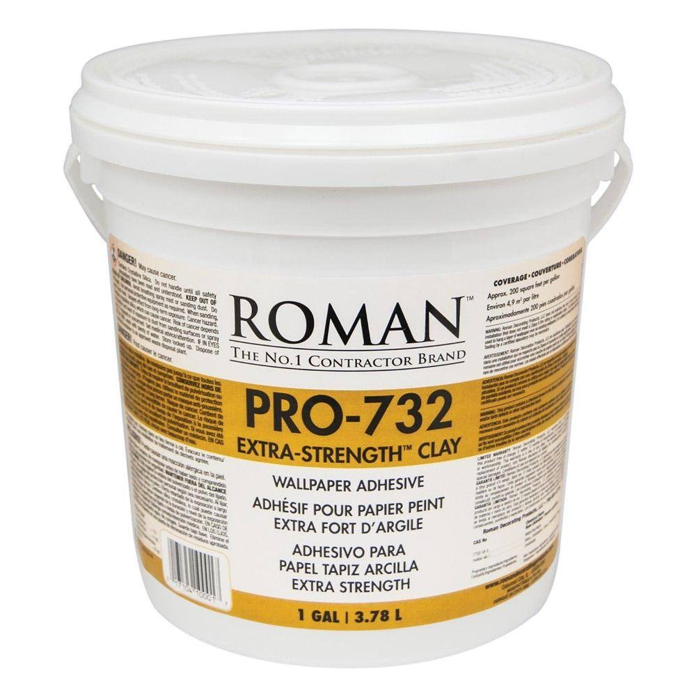 Roman 010001 Pro 732 Extra Strength Wallpaper Adhesive - 1 Gallon